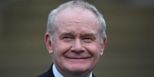 Martin McGuinness à Belfast, en Irlande du Nord, le 3
