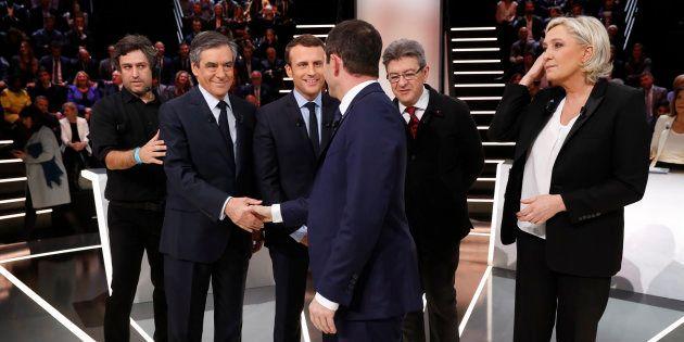 Mélenchon, Hamon, Macron, Fillon et Le Pen ont débattu lundi soir sur