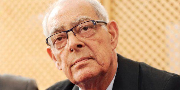 Henri Emmanuelli, en conférence de presse à Mugron, le 13