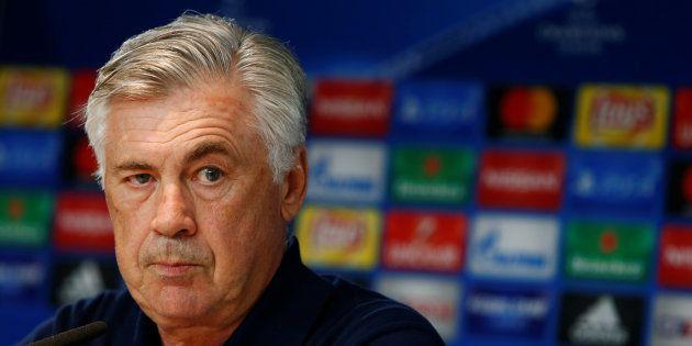 Carlo Ancelotti en conférence de presse le 11