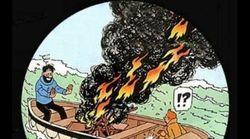 Cette fausse couverture de Tintin sur le Brexit fait jaser au Conseil