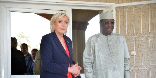 Marine Le Pen en compagnie du président tchadien Idriss