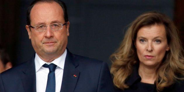 L'ancien président François Hollande et son ex-compagne Valérie Trierweiler, le 16 octobre