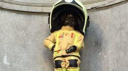 Le Manneken-Pis devient pompier pour commémorer les attentats de