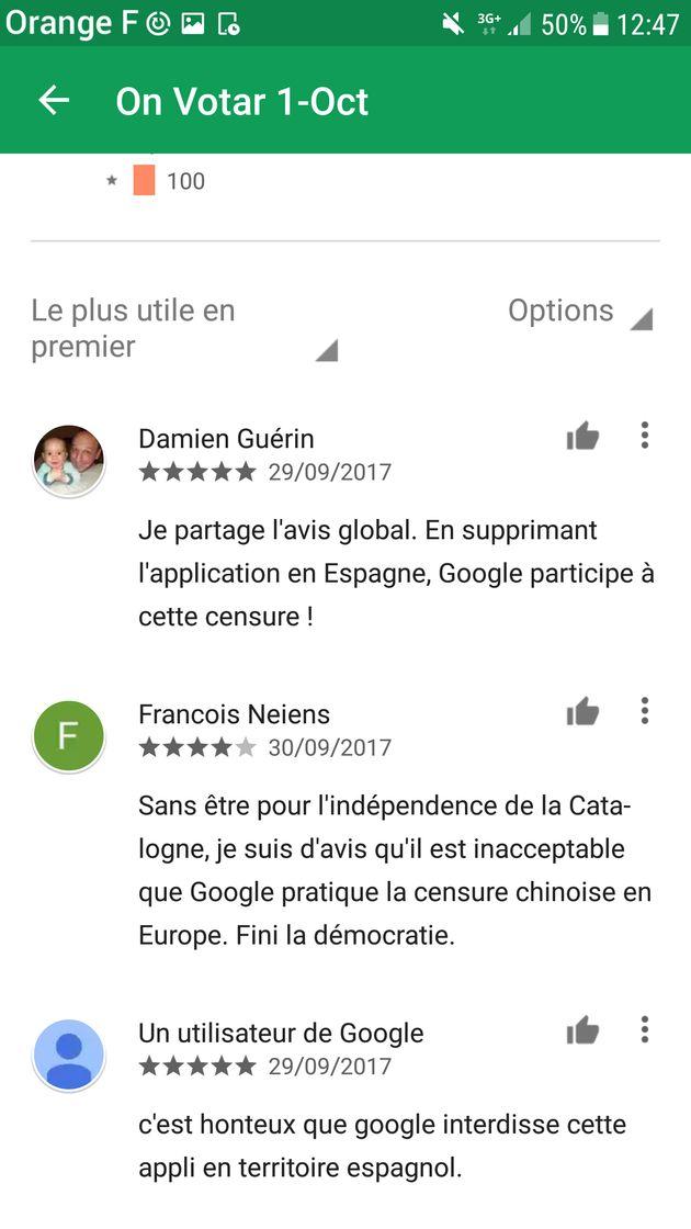 Référendum en Catalogne: Google accusé de censurer une appli de localisation des bureaux de