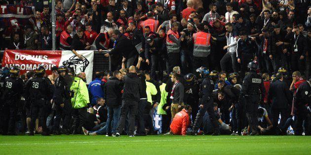 Une barrière s'est effondrée au stade de la Licorne lors du match Amiens-Lille le 30 septembre