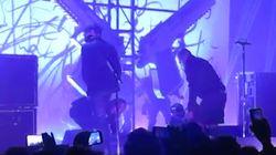 Marilyn Manson blessé par la chute d'un décor pendant un