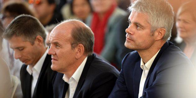 Laurent Wauquiez au côté de son rival Daniel Fasquelle dans la course à la présidence du parti Les