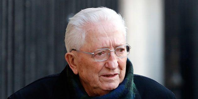 L'ancien dirigeant de la CFDT Edmond Maire, aux obsèques de Michel