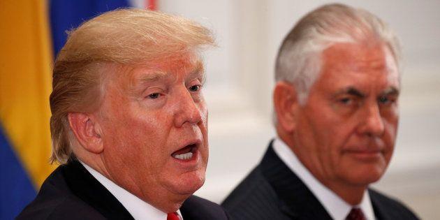 Le président américain Donald Trump et son ministre des Affaires étrangères Rex