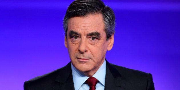 François Fillon lors du débat du 24 novembre face à Alain Juppé dans l'entre-deux-tours de la primaire...