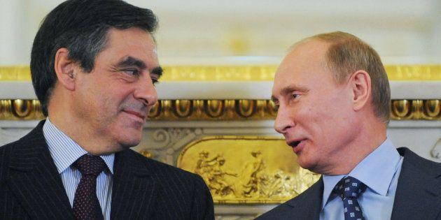 Vladimir Poutine et François Fillon à Moscou, en
