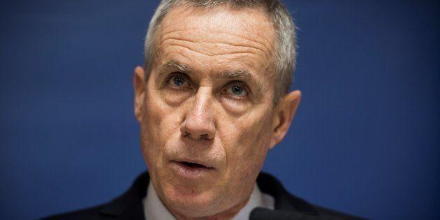 Le procureur de la République de Paris François Molins en conférence de presse, le 25 novembre