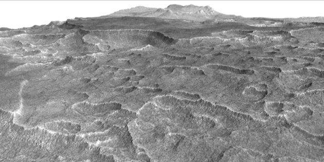 Beaucoup d'eau sous la surface de Mars dans cette cuvette bien