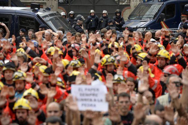 Les manifestants à