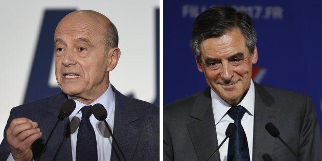 Alain Juppé et François Fillon lors de leur dernier meeting pour la primaire de la