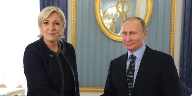 Marine Le Pen reçue par Vladimir