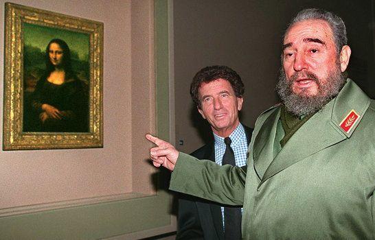Jack Lang et Fidel Castro à Paris le 14 mars
