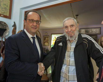François Hollande et Fidel Castro à La Havane le 11 mai