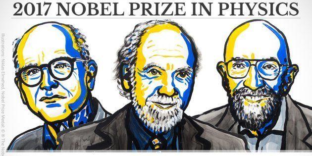 Le prix Nobel de physique 2017 décerné à Raider Weiss, Barry C. Barish et Kip S. Thorne pour l'observation...