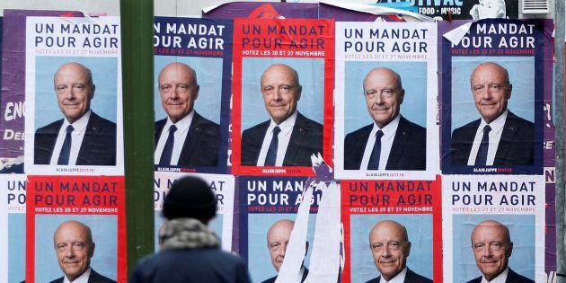 Affiches du candidat à la primaire de la droite Alain