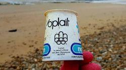 Sur une plage du Pas-de-Calais, il retrouve un pot de yaourt... de