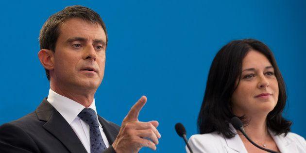 Silvya Pinel en compagnie de Manuel Valls en août