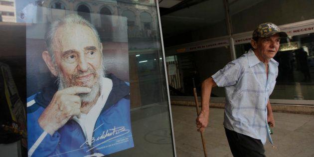 Une photo de Fidel Castro dans un magasin de Cuba, en juin 2014. REUTERS/Enrique De La