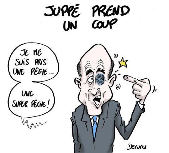 Alain Juppé, la pêche... en pleine figure après sa défaite à la primaire de la