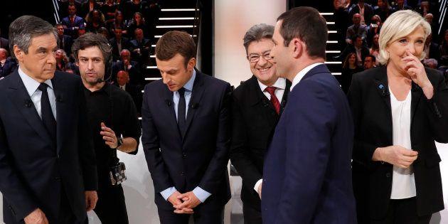 Les cinq principaux candidats à l'élection présidentielle sur le plateau