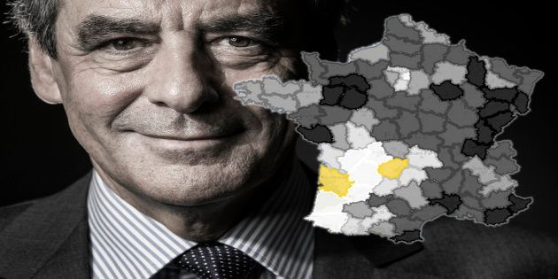 Francois Fillon, candidate for the right-wing primaries ahead of the 2017 presidential election poses...