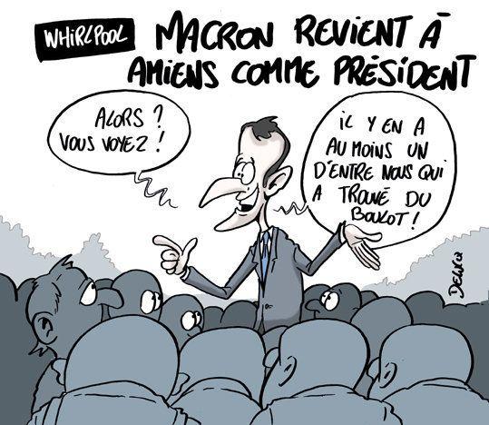 Chez Whirlpool, Macron a une bonne nouvelle, mais pas celle que vous
