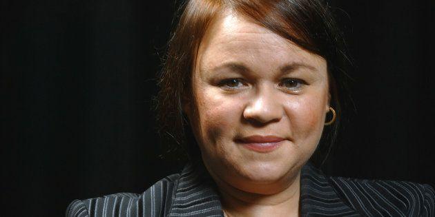 Portrait de la romancière cubaine exilée en France Zoe Valdes pris, le 29 septembre 2003 au théâtre du...