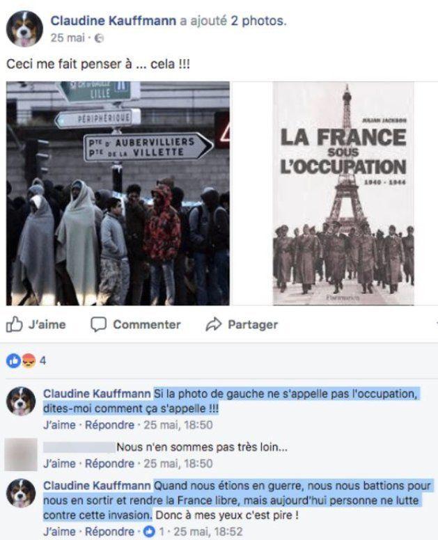 Claudine Kauffmann, la sénatrice FN qui a comparé les migrants aux nazis, se félicite de la