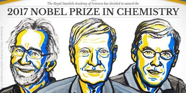 Le prix Nobel de chimie 2017 décerné à Jacques Dubochet, Joachim Frank et Richard Henderson pour la cryo-microscopie