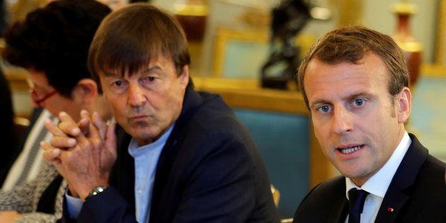 Nicolas Hulot aux côtés du président de la République, Emmanuel