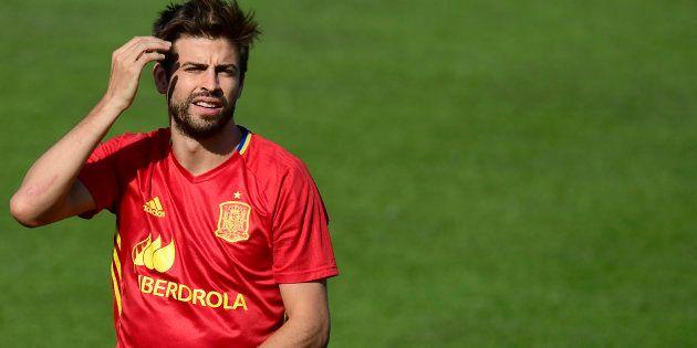 Gerard Piqué, sous les couleurs de la Roja (la sélection espagnole de