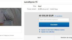 Une boîte de Levothyrox proposée à plus de 40.000 euros sur un site