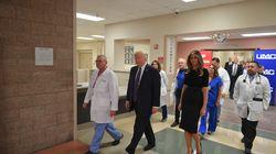 À Las Vegas, Donald Trump salue