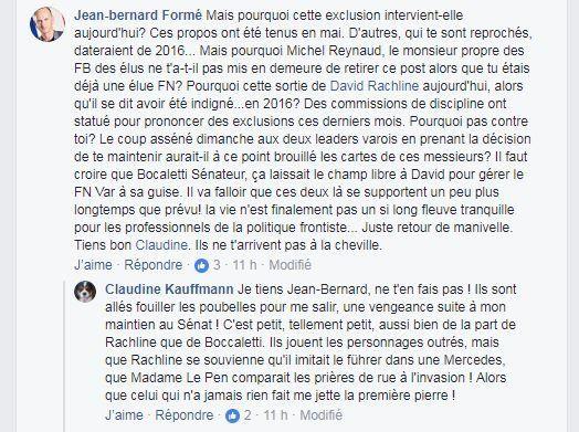 Claudine Kauffmann, la sénatrice suspendue du FN attaque Marine Le Pen et dénonce des