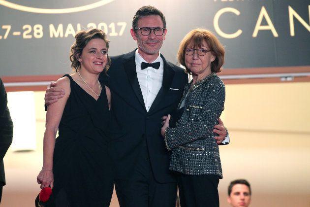 La productrice Florence Gastaud, le réalisateur Michel Hazanavicius et Anne Wiazemsky à la projection...