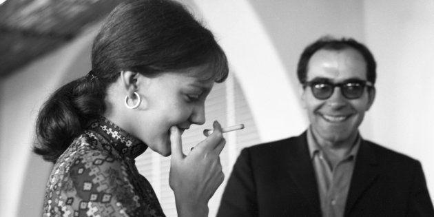 Anne Wiazemsky et Jean-Luc Godard en