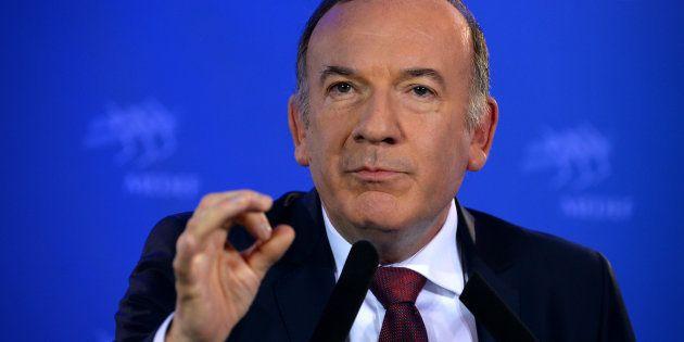 Le président du Medef Pierre Gattaz à Paris le 15 novembre