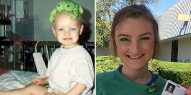 20 ans après son cancer, Montana Brown est devenue infirmière dans l'hôpital pour enfant où elle a été soignée.