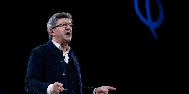 Jean-Luc Melenchon en meeting à Rennes le 26 mars