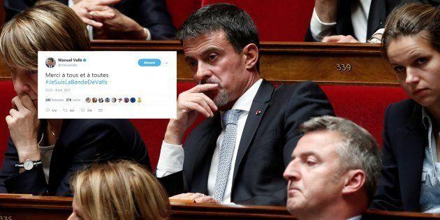 #JeSuisLaBandeDeValls: Manuel Valls fait monter un (obscur) hashtag de soutien à sa personne dans sa...
