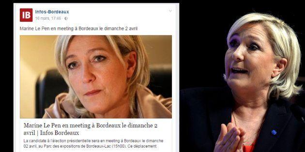 Marine Le Pen le 30 mars à