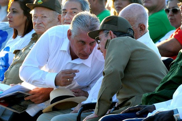 Raul Castro et son probable successeur Miguel Diaz