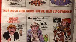 Merkel a beaucoup inspiré Charlie Hebdo pour son premier numéro