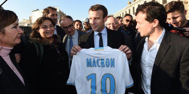 Emmanuel Macron lors d'un déplacement à Marseille en novembre